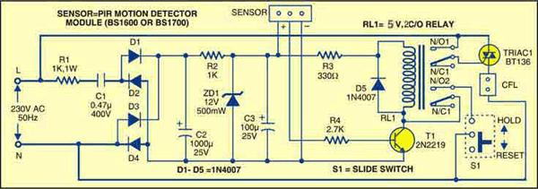 Motion sensor circuit