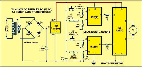 curtain opener circuit