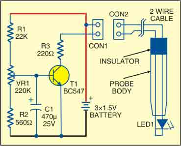 White LED Light Probe Circuit