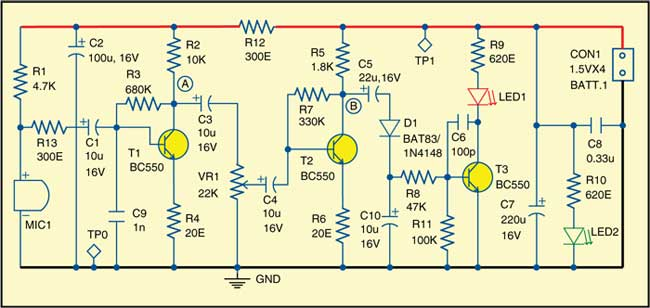 noise level alarm circuit