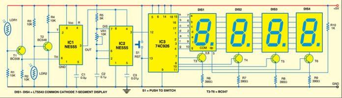 ball speed checker circuit