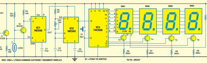ball speed checker circuit