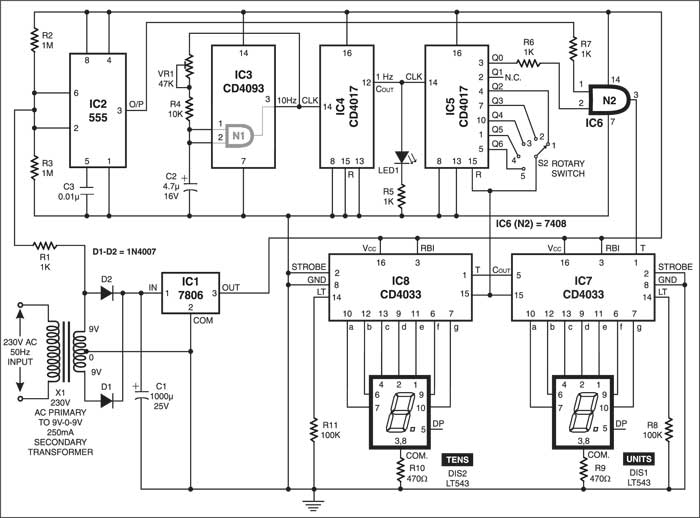Frequency Meter | Detailed Circuit Diagram Available on ring counter circuit diagram, frequency generator, frequency formula, digital watch circuit diagram, frequency counter flow chart, basic circuit diagram, frequency diagram example,
