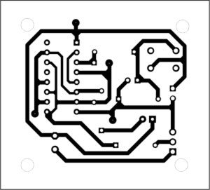 Fig. 2: Actual-size, single-side PCB for the cupboard light