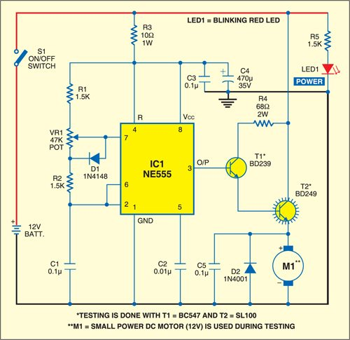 [DIAGRAM_3NM]  DC Motor Speed Controller | Detailed Circuit Diagram Available | Dc Motor Control Wiring Diagram |  | Electronics For You