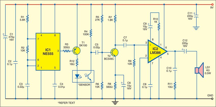 IR Proximity Detector | Detailed Circuit Diagram Available