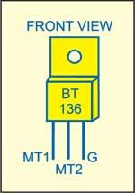 Fig. 2: Pin configuration of triac BT136