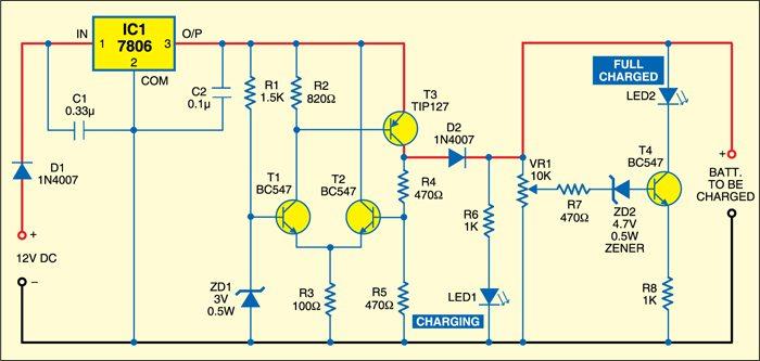Circuit diagram of digital camera adaptor