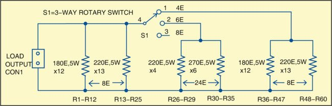 Fig. 2: Resistor banks arrangement