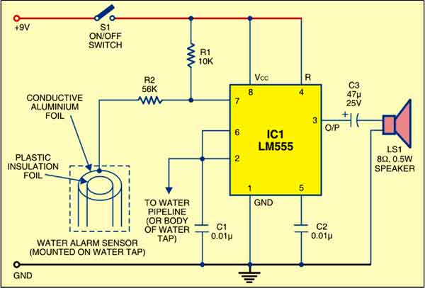 Water Supply Alarm Circuit