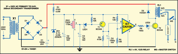 remote operated switch circuit