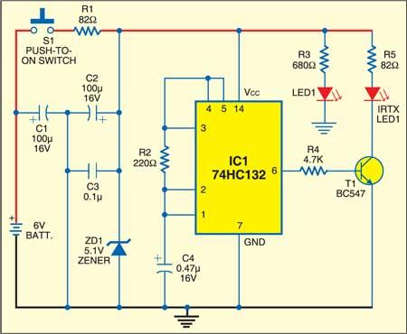 Electromagnetic relay: IR transmitter