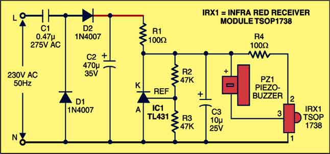 Fig. 1: Circuit diagram of remote tester