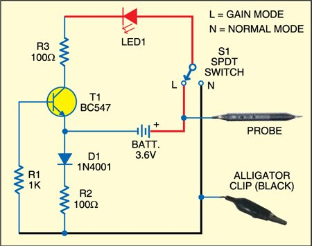 Circuit of leakage and continuity tester