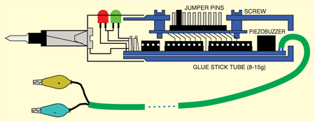 Fig. 2: Proposed assembly of logic probe