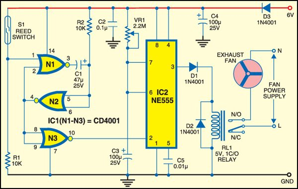 Fig.1: Circuit of exhaust fan switch
