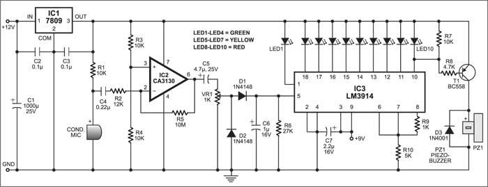 Noise Meter circuit