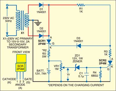 Low-Cost Battery Charger Circuit