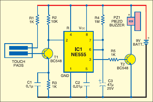 hidden alarm switch circuit