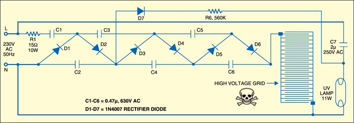 electric fly swatter | detailed circuit diagram available  electronics for you