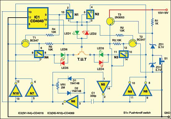 Circuit of bipolar transistor tester