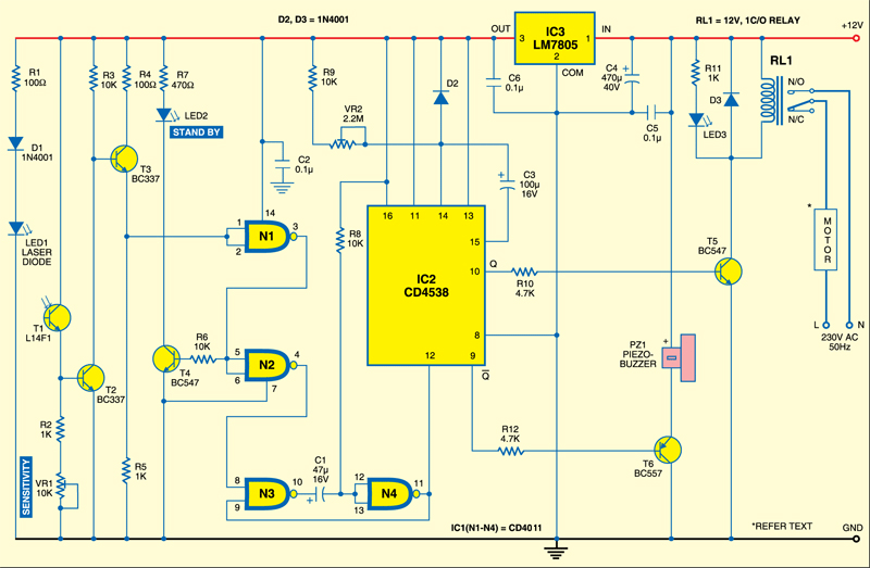 Circuit of the automatic door opener
