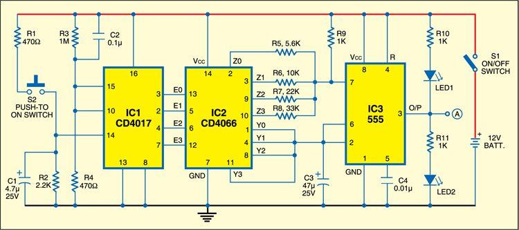 Circuit for digitally adjustable dancing lights