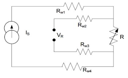 Fig 6: Four wire measurement of unknown resistance