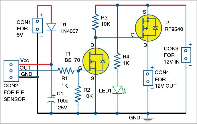 12V Motion Sensor Wiring Diagram from www.electronicsforu.com
