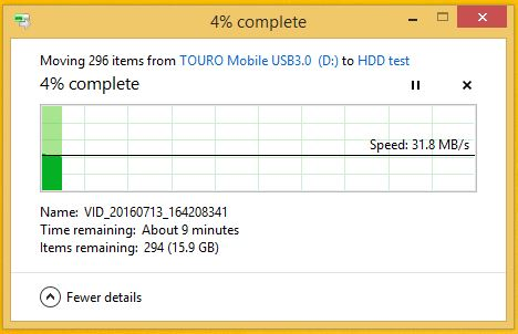 storage speed read USB 2.0
