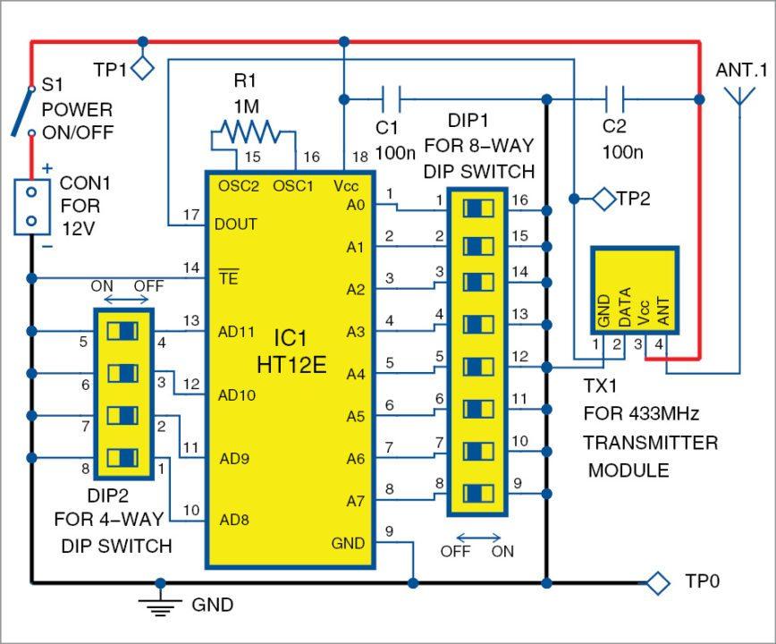 Fig 1 RF based code lock