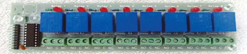 Fig. 5: An 8-channel relay module