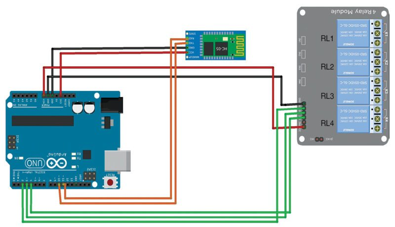 Fig. 6: Relay module connection