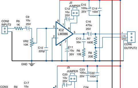 Quadraphonic Amplifier Circuit