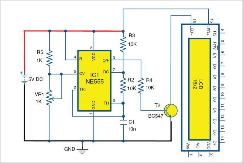 [SCHEMATICS_48YU]  Dimming LCD Backlight | Detailed Circuit Diagram Available | Lcd Light Wiring Diagram |  | Electronics For You
