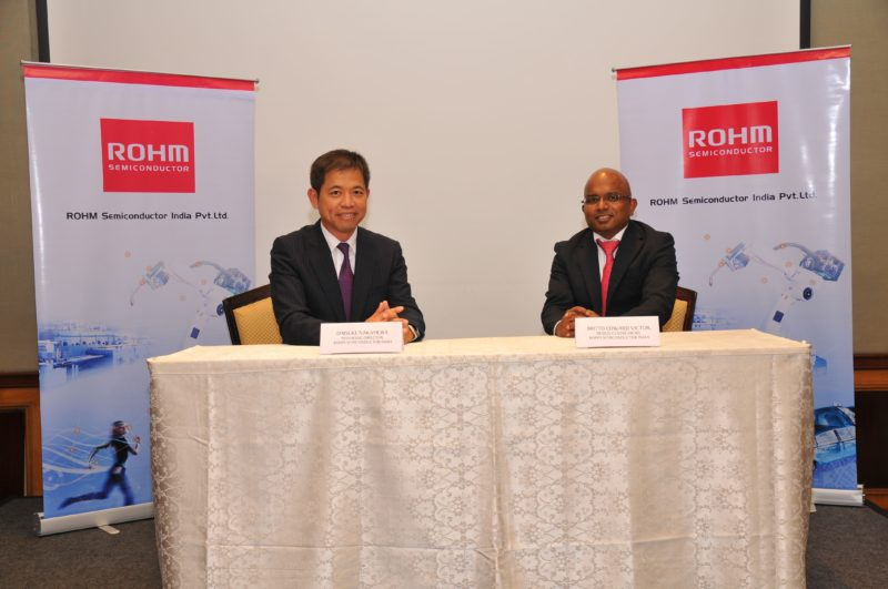 ROHM Semiconductor Speakers: MD, ROHM Semiconductor India, MD (Left), Britto Edward Victor, Design Centre Head, ROHM Semiconductor, India(Right)
