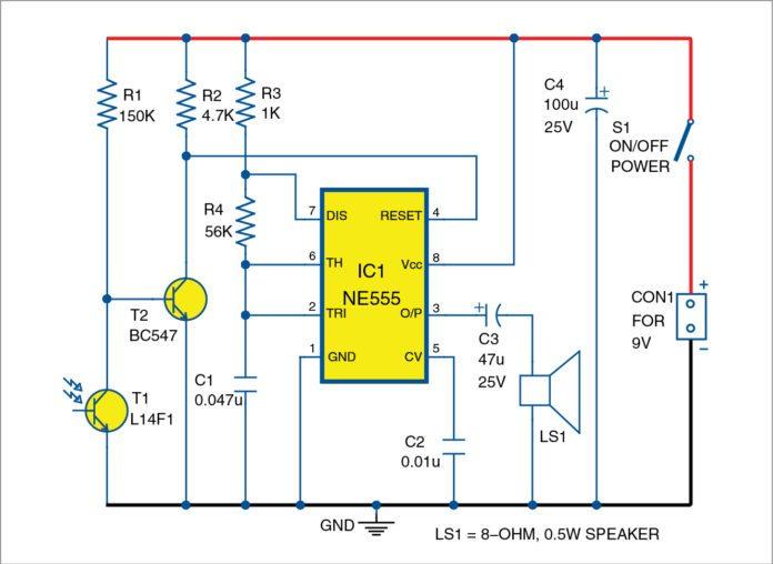 light sensitive fire alarm circuit