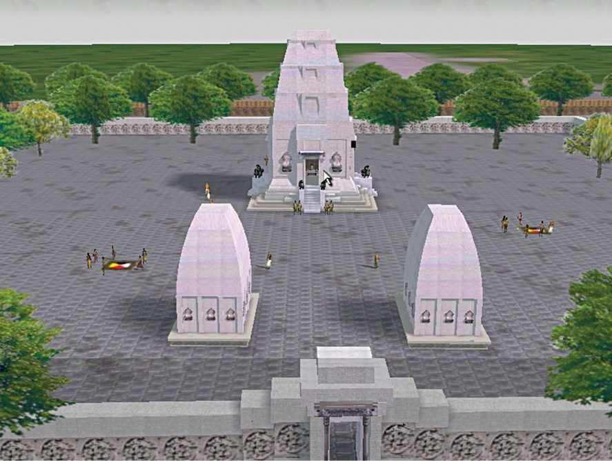 Fig. 5: Digital reconstruction of the entry to SPK shrine