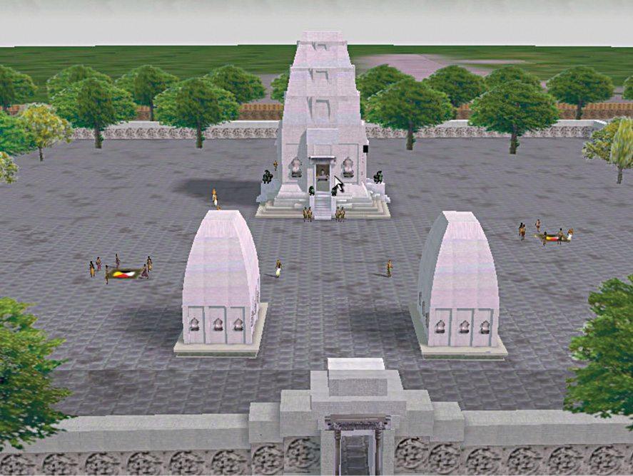 Fig. 5: Digital reconstruction of the entry to SPK shrine