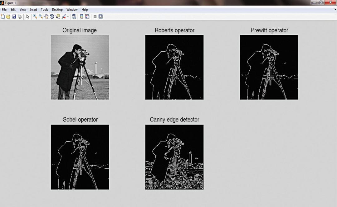 Edge detection using various operators