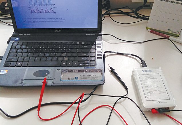 Typical PC based oscilloscope