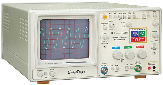 Typical analogue oscilloscope (benchtop)