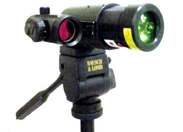 CHP laser dazzler mounted on a tripod