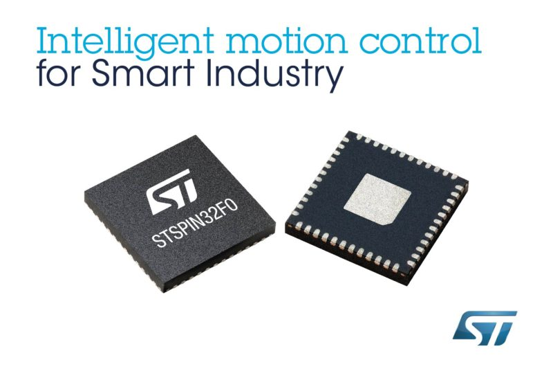 STMicroelectronics Combines Power and Simplicity in Intelligent Motion-Control Device for Smart Industry and High-End Consumer Electronics