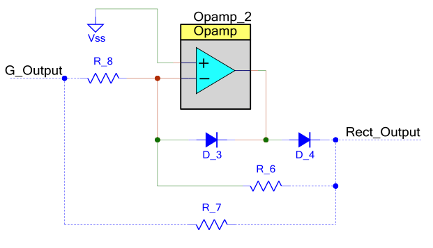 Figure 7: Precision Rectifier Using PSoC