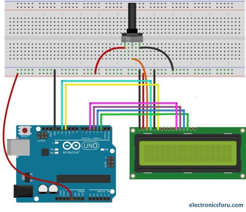 16x2 Lcd Pinout Diagram