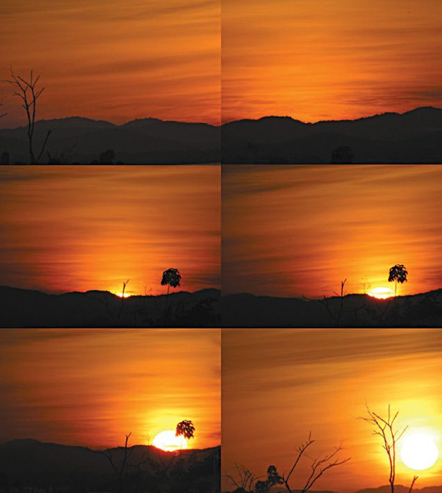 Time-lapse photography of the Sun rising
