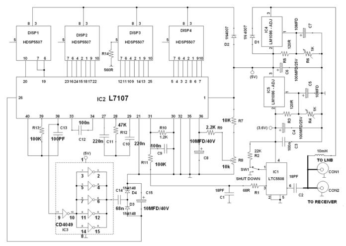 satellite finder circuit
