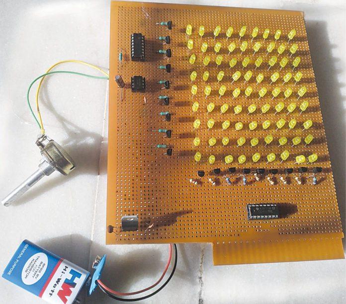 authors prototype : 81 LED chaser light