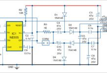Circuit diagram of the simple DC to DC converter for the MCU kit